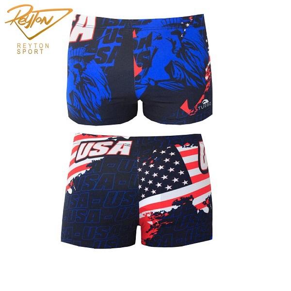 مایو شنا مردانه توربو Boxer Full Printed USA | 3071