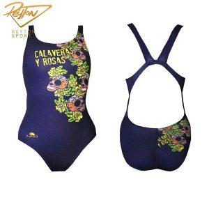 مایو شنا زنانه توربو Calaveras Navy | 3124