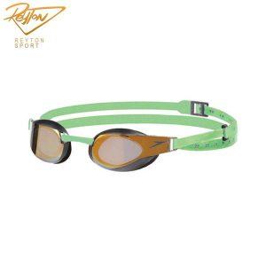 عینک شنا مسابقه ای اسپیدو Elite Mirror Gold-Green | 2561