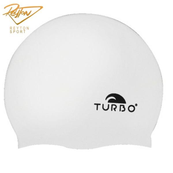 کلاه شنا سیلیکون توربو سایز نوجوانان - سفید | 3433