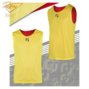 کاور ورزشی 2 رو تور زرد-قرمز